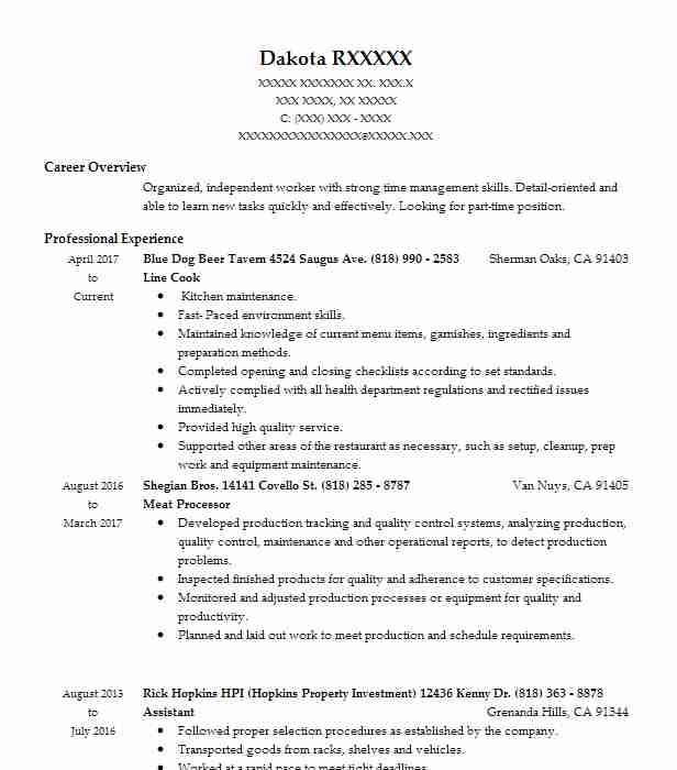 Butcher Resume Example (Maryland Correctional Institution ...