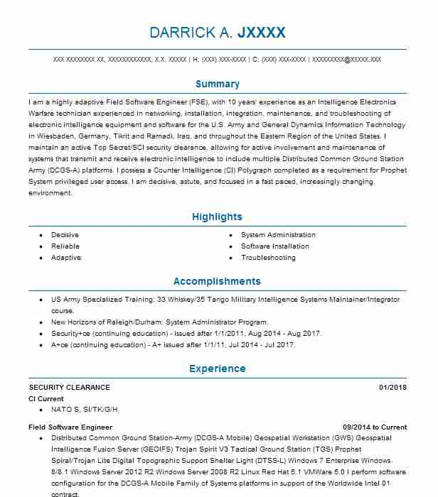 security clearance resume example delex systems  patuxent