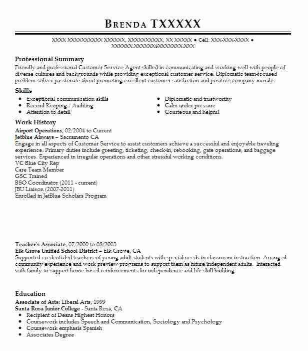 airport operations officer resume example dfw international airport