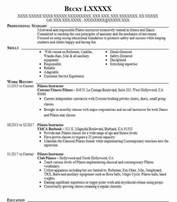 instructor resume - Teriz.yasamayolver.com