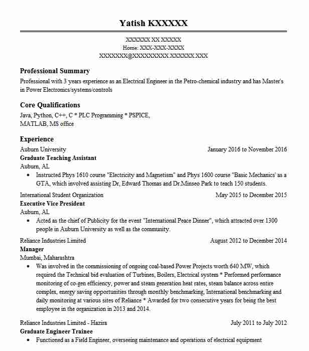 80 Energy And Utilities Resume Examples in Alabama | LiveCareer