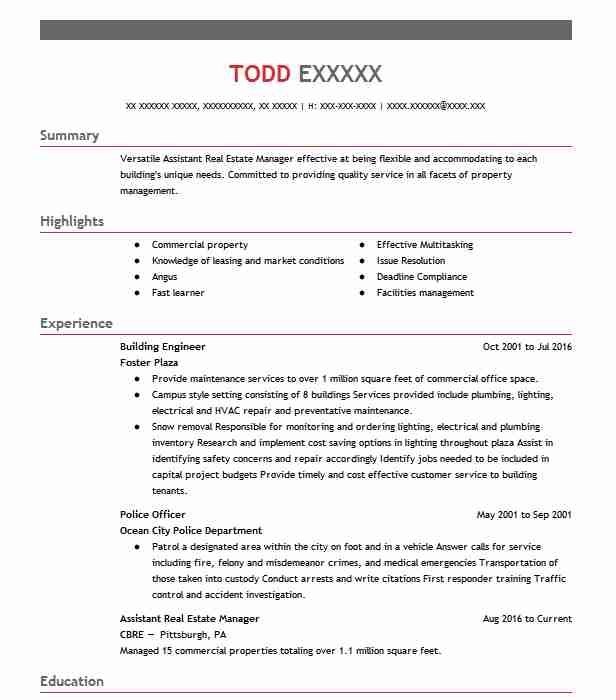 building engineer resume sample engineering resumes livecareer