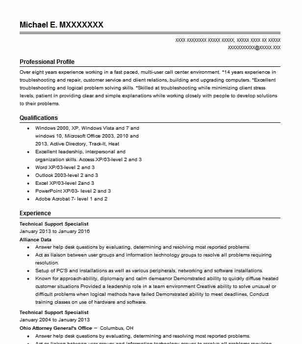 Technical Support Specialist Objectives | Resume Objective ...