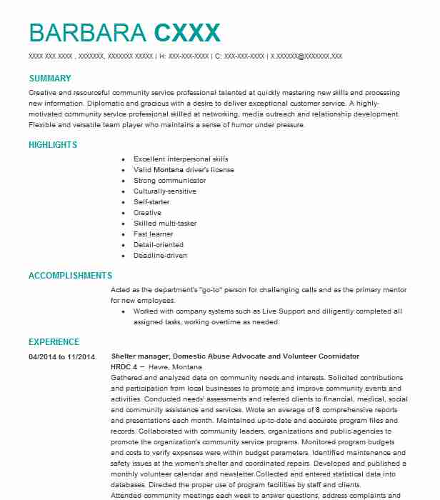 Find Resume Examples in Lincoln, MT   LiveCareer