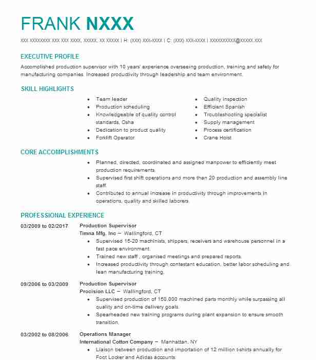Captivating Create My Resume Inside Production Worker Resume