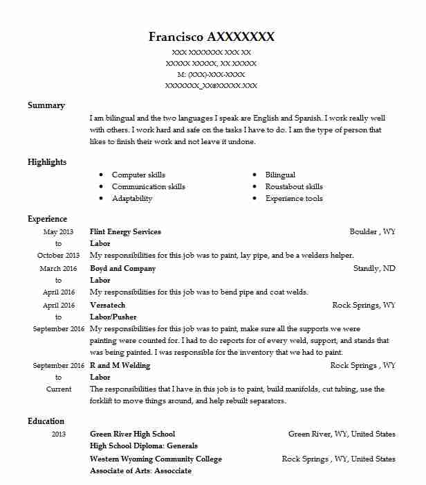 29 Energy And Utilities Resume Examples in Wyoming | LiveCareer