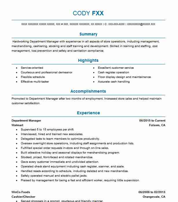 Sustainability Coordinator Resume Example (Greater Cleveland