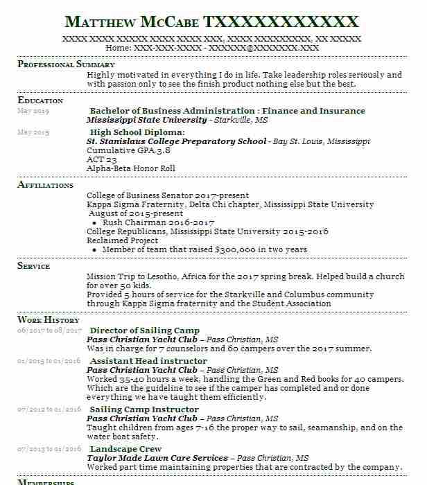 9 Investment Banking (Accounting And Finance) Resume Examples in ...