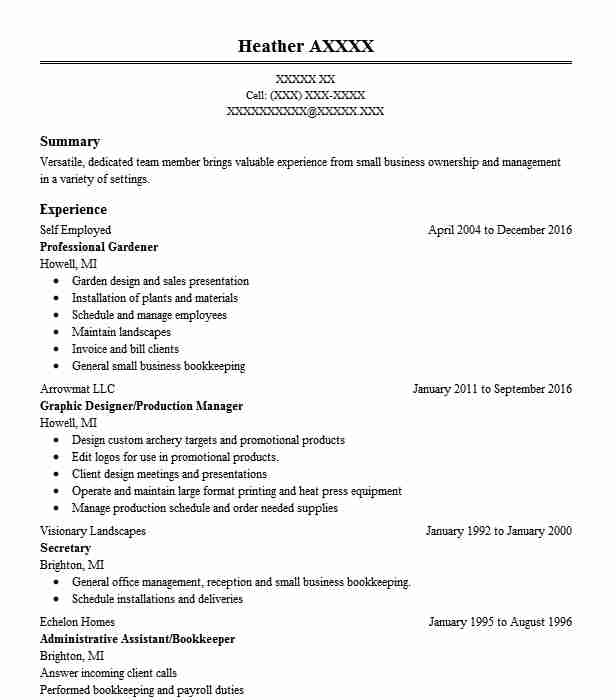 1014 Small Business And Entrepreneurship Business Resume Examples