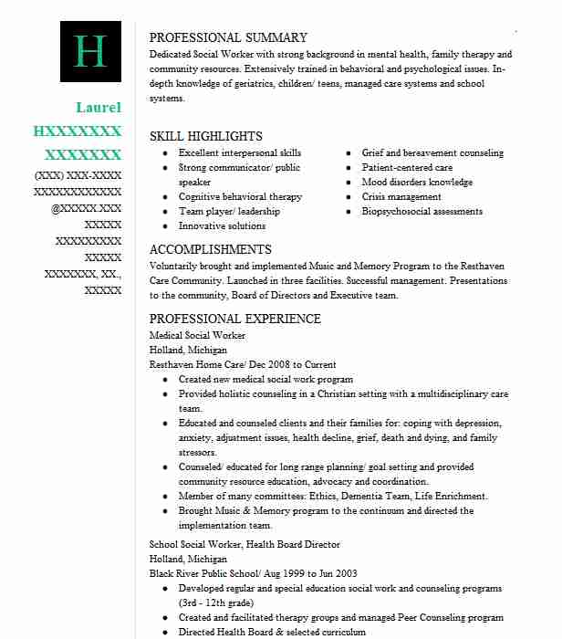 find resume examples in holland  mi