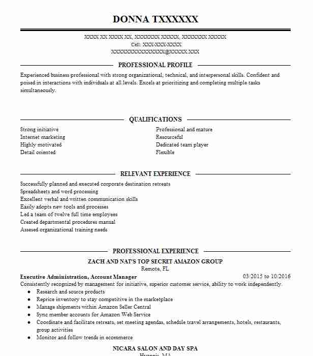 8007 Salon Management Resume Examples | Beauty And Spa Resumes ...