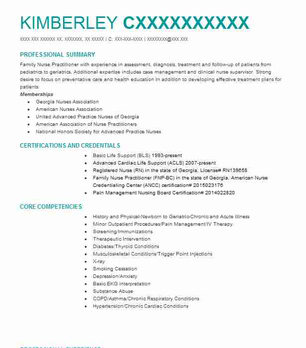 practitioner resume samples attorney family nurse practitioner and staff educator and clinical preceptor - Nurse Practitioner Resume Sample