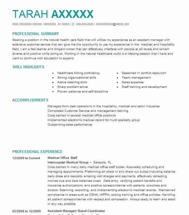45 acupuncture resume examples in florida livecareer