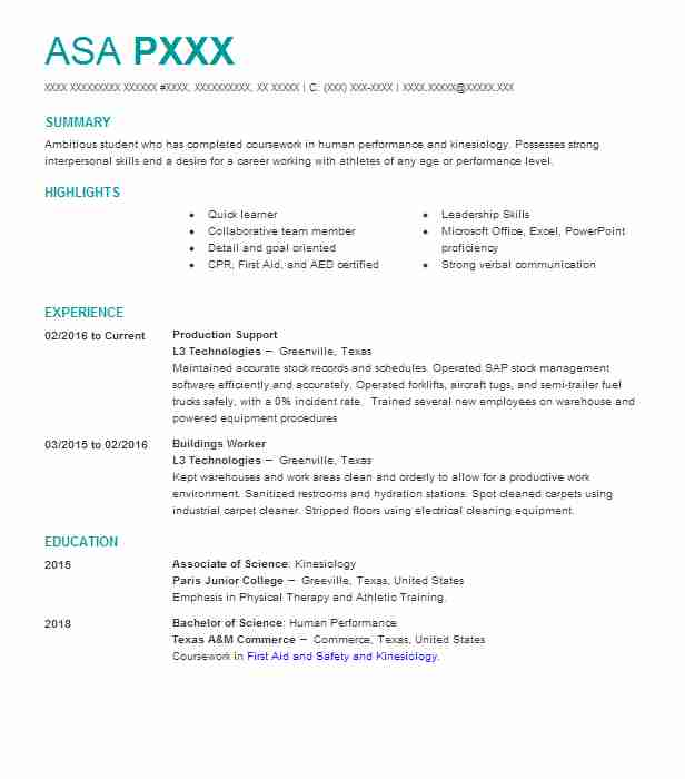 Production Support Manager Resume Example Hankins And