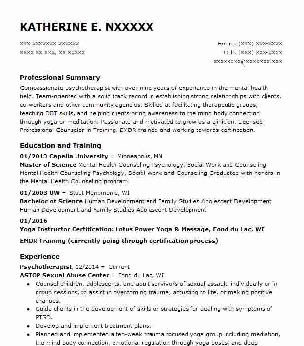 Find Resume Examples in Fond Du Lac, WI | LiveCareer