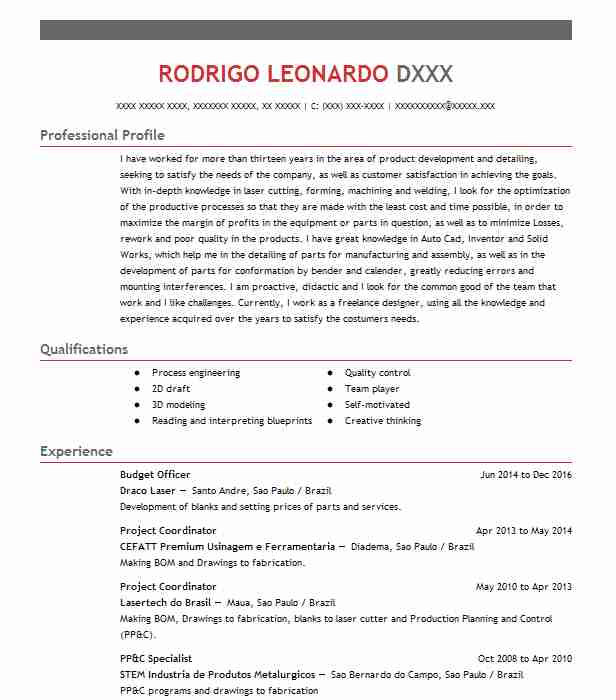 budget officer resume sample