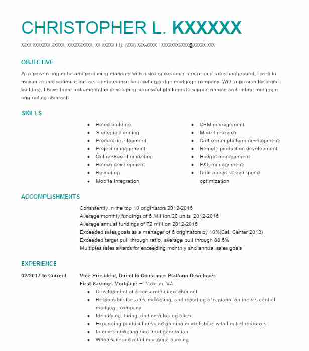 824 Banking (Accounting And Finance) Resume Examples in Virginia ...