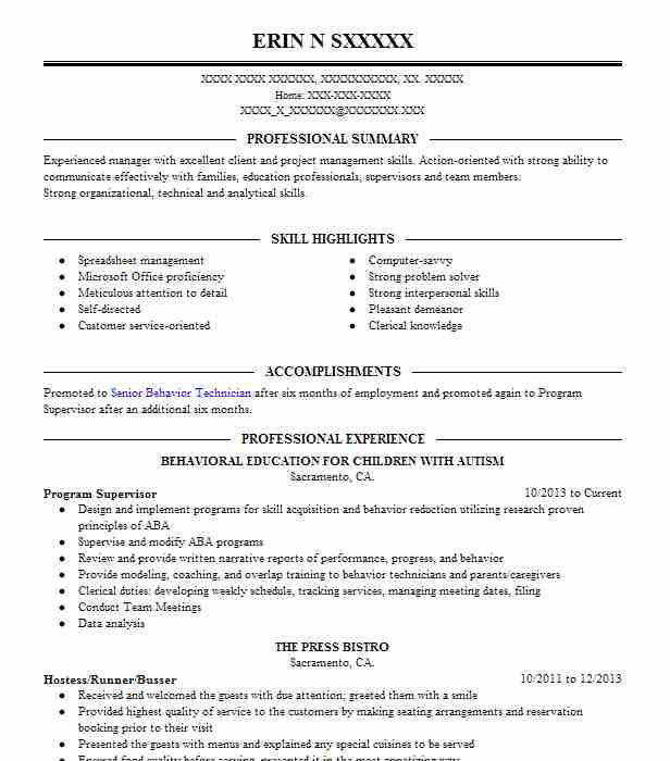 marriage family therapist intern  trainee resume example