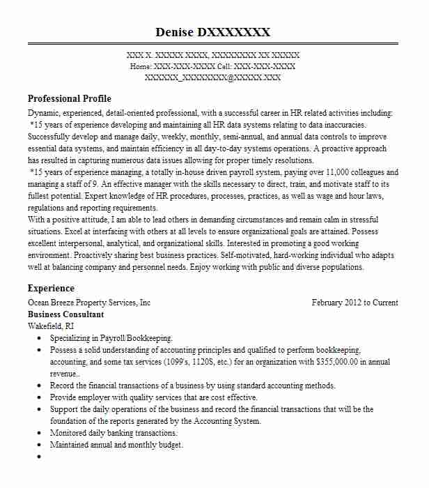 business consultant resume example marketo inc
