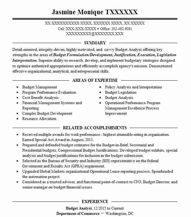budget analyst resume sample accountant resumes livecareer