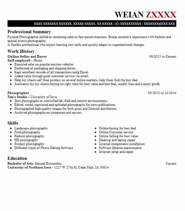 Independent Online Seller Resume Example Poshmark