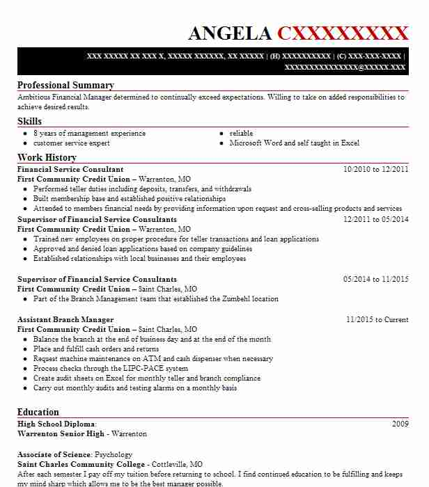 Find Resume Examples In Portage Des Sioux Mo Livecareer