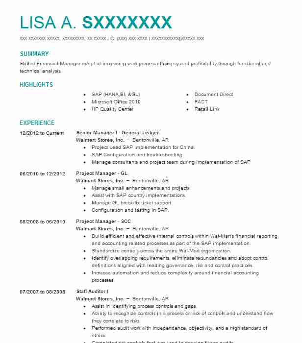 Famous Walmart Accounting Resume Collection - Best Resume Examples ...