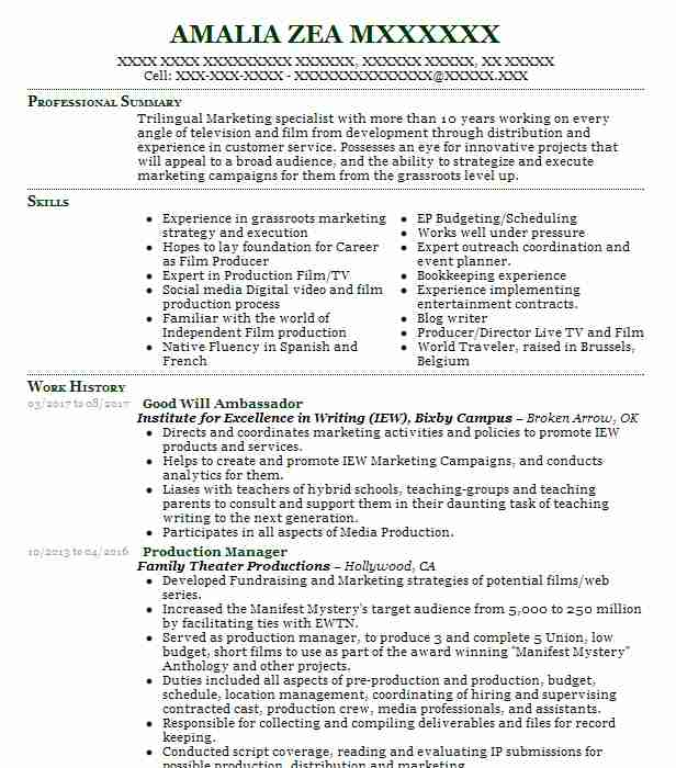 25 Online Marketing And Social Media Resume Examples in Oklahoma ...