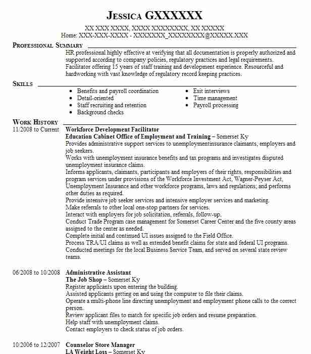 Find Resume Examples In West Somerset Ky Livecareer
