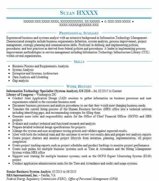 information technology specialist and data encryption analyst resume example united states army