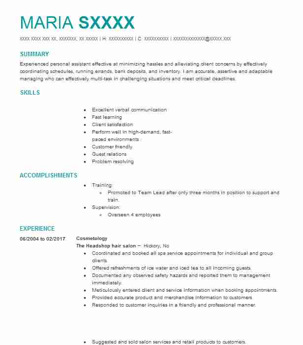 cosmetology resume objectives resume sample
