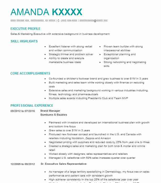 Best Brand Manager Resume Example | LiveCareer
