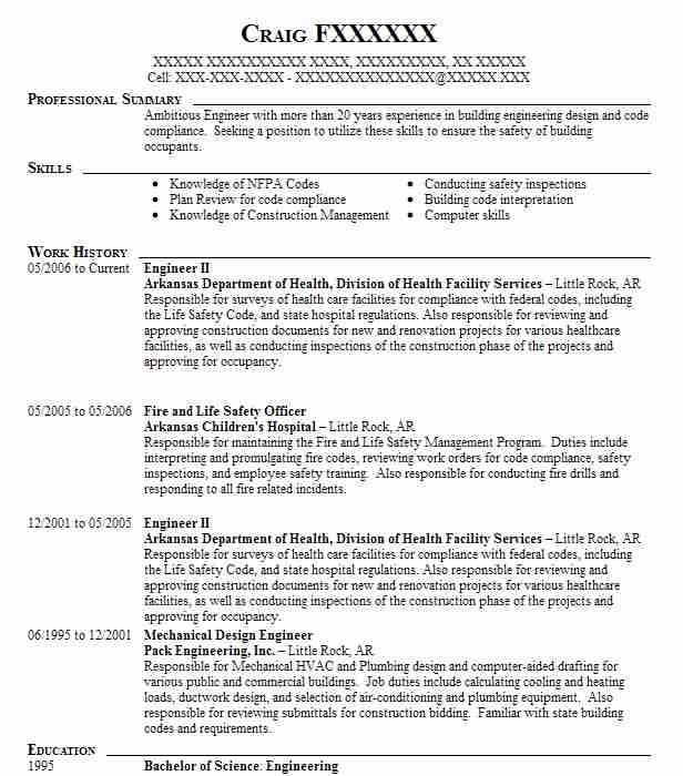 8 occupational health and safety engineering resume examples in