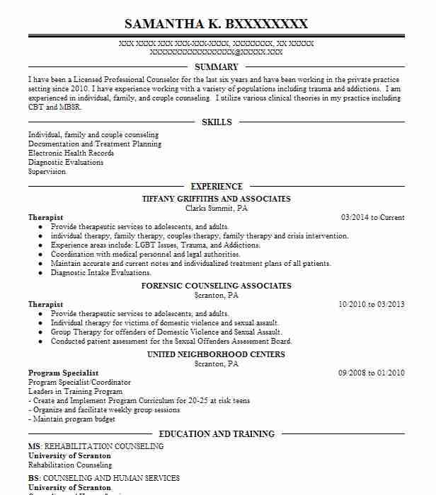 forensic psychologist resume sample
