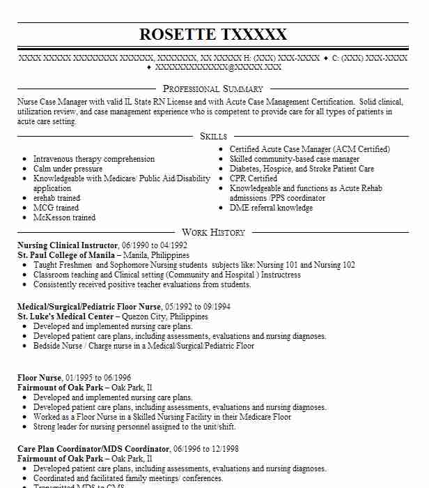 Professional Nursing Clinical Instructor Templates To