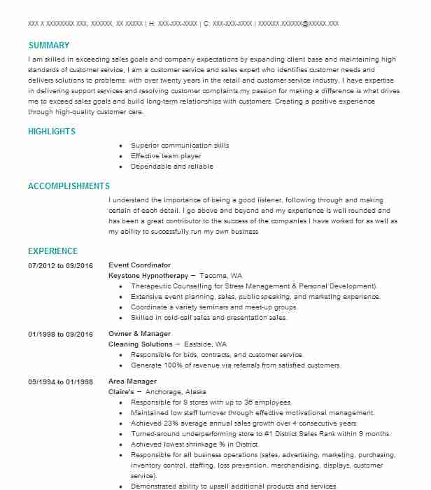 Event Coordinator Resume Sample | Resumes Misc | LiveCareer