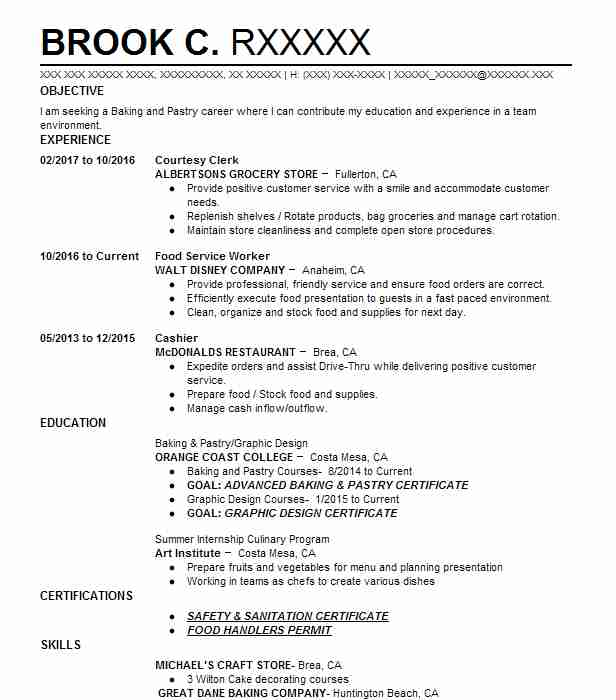 courtesy clerk albertsons grocery store - Grocery Store Produce Resume Sample