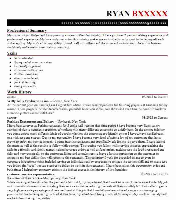 Editor Resume Sample | Editor Resumes | LiveCareer