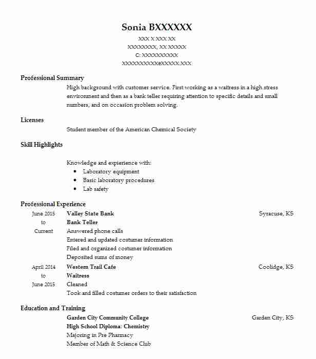 find resume examples in coolidge  ks