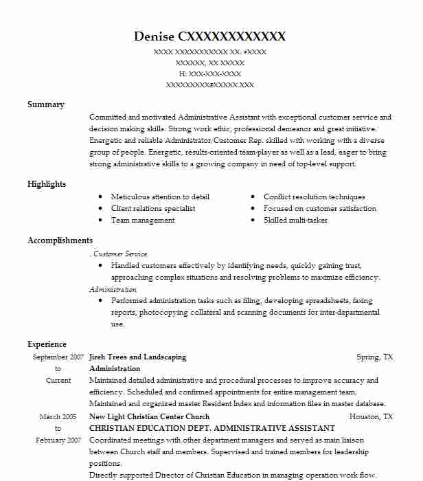 Administration Resume Samples. Administration