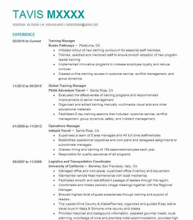 tourism resume examples travel and hospitality resumes livecareer
