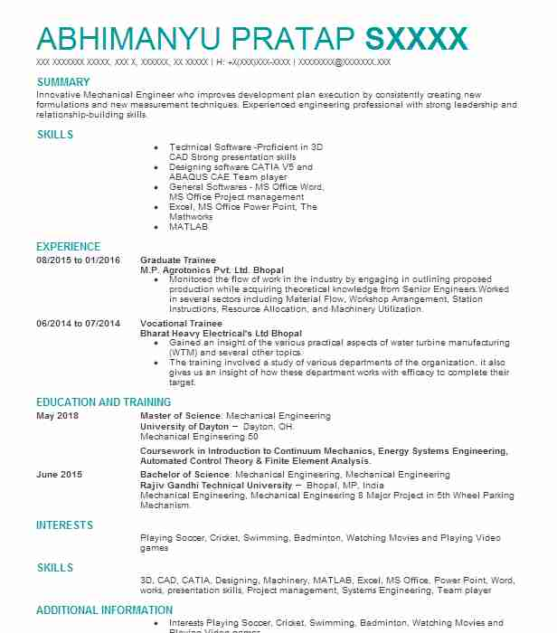 Graduate Trainee Resume Sample Trainee Resumes Livecareer