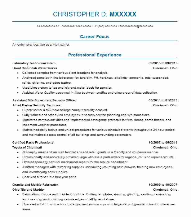 post office resume examples government resumes livecareer