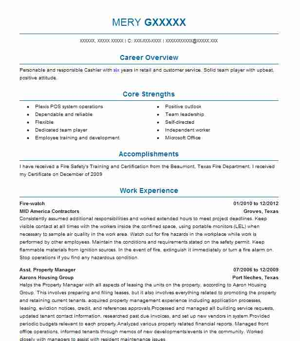 Find Resume Examples in Bedias, TX | LiveCareer