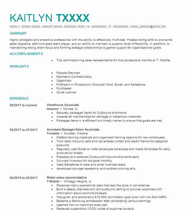 Warehouse Resume Template | Best Warehouse Associate Resume Example Livecareer