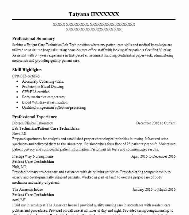 Create My Resume  Biotech Resume Sample