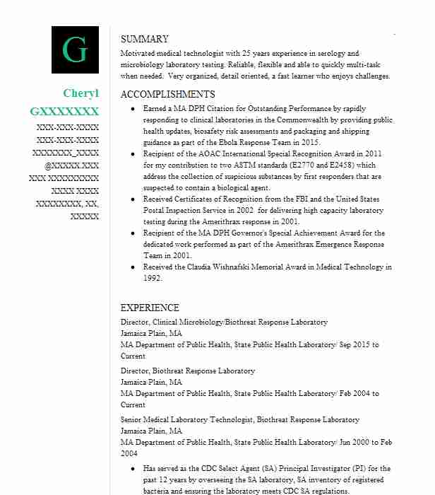 Director, Security Incident Response Resume Example