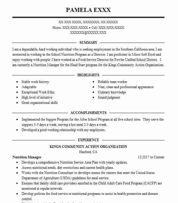 best fast food server resume example