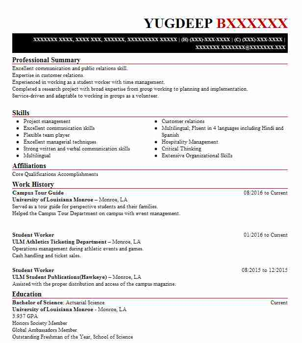 University tour guide resume when emailing a resume should it be an attachment