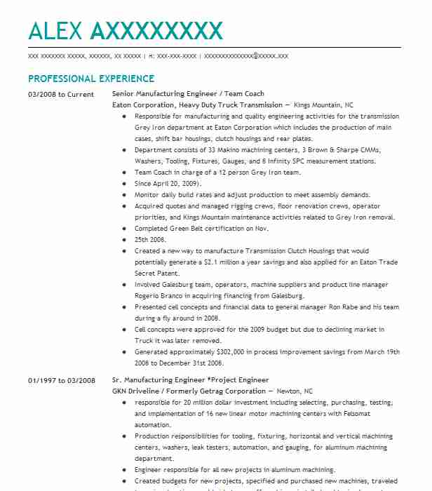 quality and manufacturing engineer resume example arrow